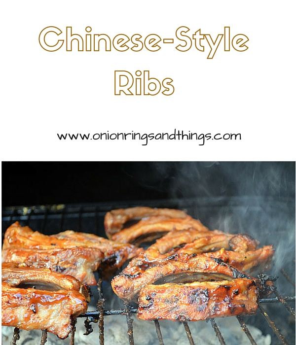 Chinese-style Ribs are marinated in plum sauce, barbecue sauce and orange juice and grilled to sweet, sticky and gooey perfection