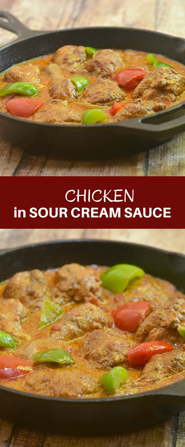 Chicken in Sour Cream Sauce made with a rich, creamy tomato-sour cream sauce is sure to be a family favorite. Quick and easy to make yet packs full flavor, it's perfect for busy weeknights!