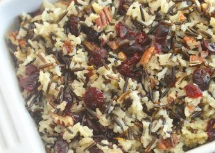 Cranberry Pecan Wild Rice Stuffing