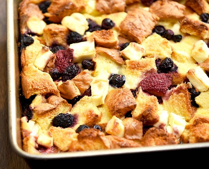 Baked French Toast recipe made with Texas toast, mixed berries and cream cheese. It's the perfect breakfast or brunch!