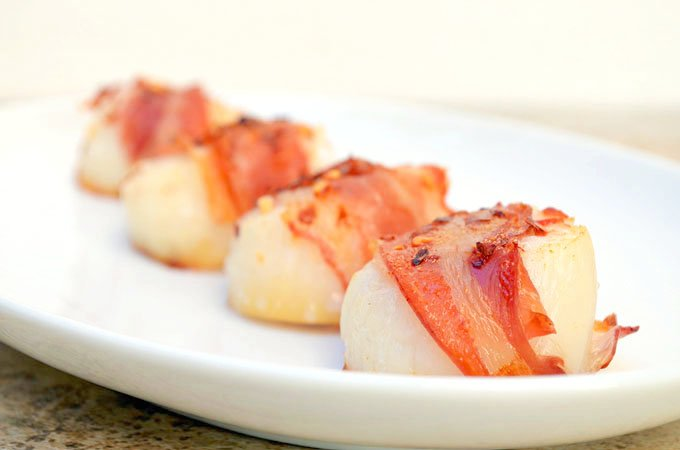 Pancetta Wrapped Scallops