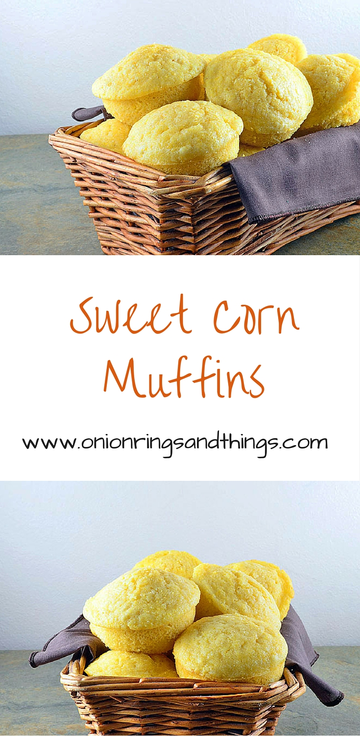Sweet Corn Muffins are subtly sweet, melt-in-your-mouth soft and moist. They're perfect with your next bowl of chili!