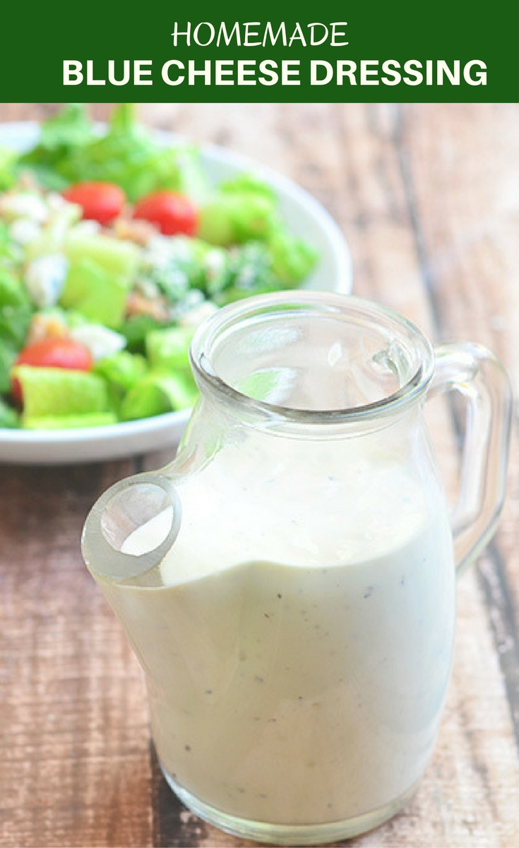 Homemade Blue Cheese Dressing is the best thing you'll ever put on your salad! It's easy to make and fresher, cheaper and better than store-bought!