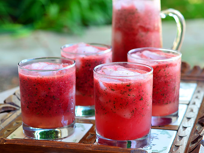 Minty Watermelon Cooler