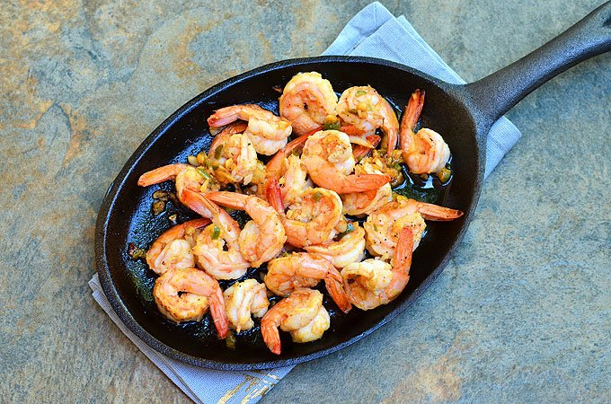 Shrimp with Garlic Sauce is perfect for sopping up with crusty bread! This Spanish tapa, Gambas al Ajillo, has all the big, bold flavors you'd love in an appetizer!