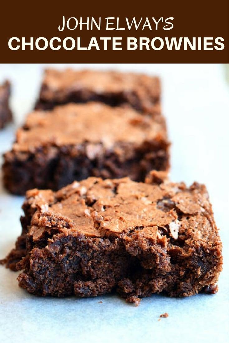 John Elway's Chocolate Brownies - Onion Rings & Things