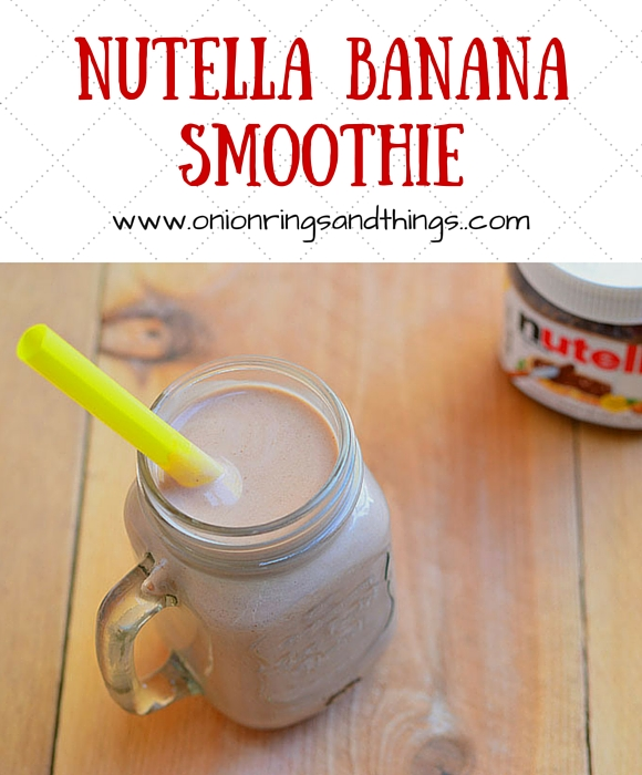 Nutella Banana Smoothie made with Nutella and bananas for a delicious breakfast treat or anytime pick-me upper