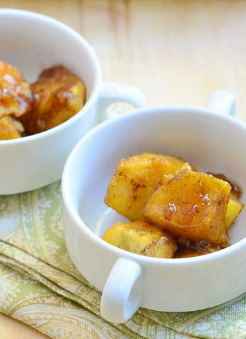 Candied Sweet Potatoes with Sherry Syrup