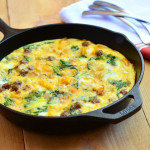 Sausage, Spinach and Potato Frittata