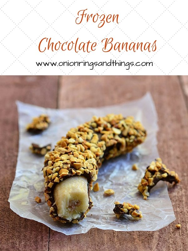 Dipped in melted chocolate and rolled in crunchy peanuts, these frozen chocolate bananas make a delicious yet nutritious sweet treat