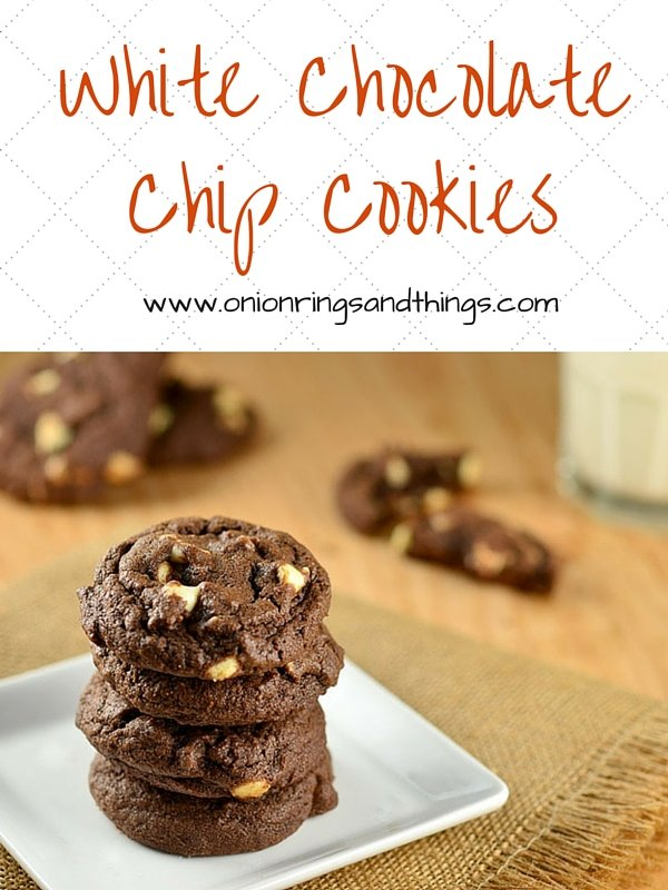 White Chip Chocolate Cookies are soft, chewy cookies with double the chocolate