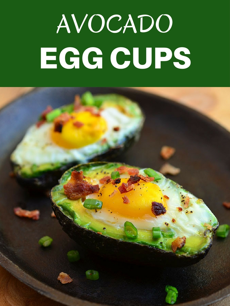 Avocado Egg Cups with runny yolks, crisp bacon, and green onions nestled in creamy avocados. They are a simple yet satisfying breakfast treats everyone would love waking up for!