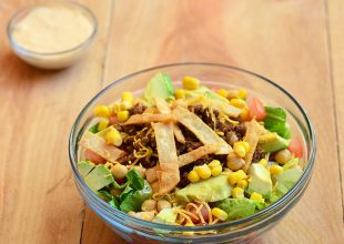 Taco Salad with Ranch Salsa Dressing