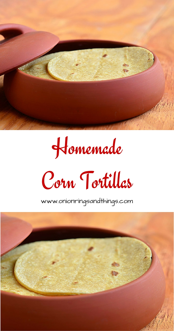 Homemade corn tortillas are easier to make than you think. Requires only two ingredients!