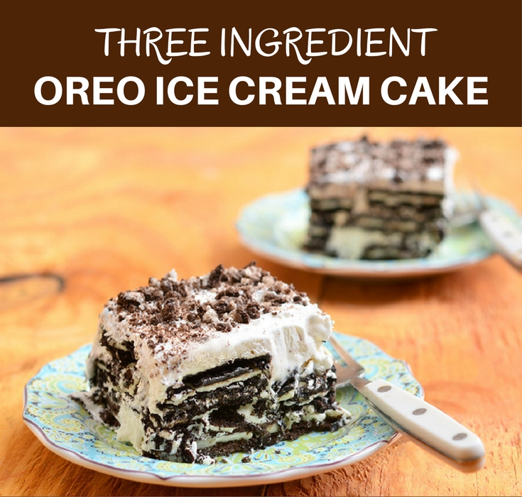 Three ingredient Oreo ice cream cake is the perfect treat to cool down this summer. It's so easy to make yet never fails to impress!