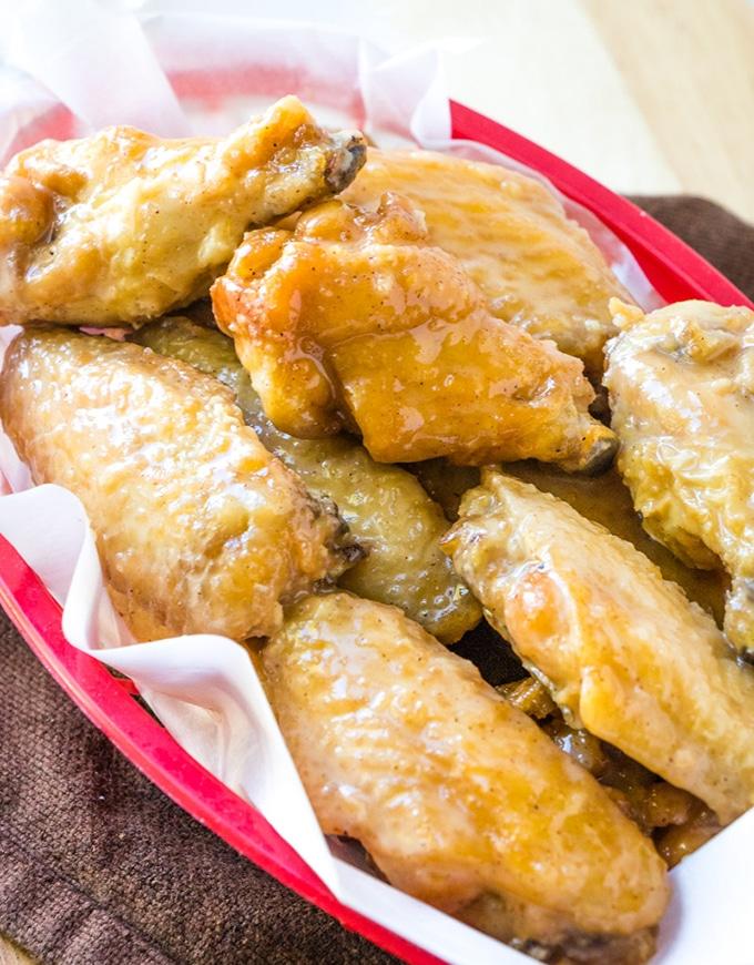 Citrus Caramel Chicken Wings
