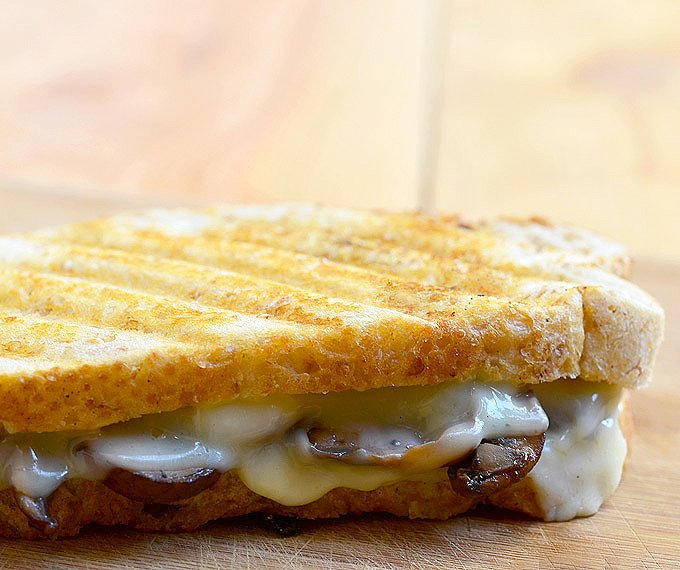 Portabello Mushroom Sandwich Melt with meaty mushrooms and gooey Provolone cheese on toasted French bread is the easiest and tastiest sandwich you can make! Perfect for a midday snack or light lunch!