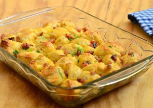 Biscuit and Ham Breakfast Bake