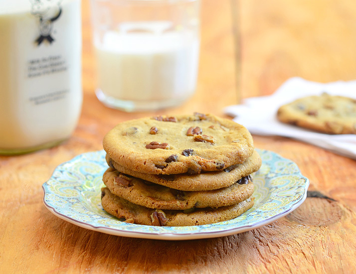 Caramel Pecan Chocolate Chip Cookies are crisp, buttery and deliciously gooey with soft, caramel centers. Bake a big batch, these are sure to be everyone's favorite treat!