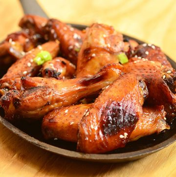 Honey Soy Chicken Wings are so easy to make and perfect for game day. Marinated in soy sauce, honey, orange juice, and garlic mixture, they're sticky, sweet, savory and finger-licking, lip-smacking delicious!