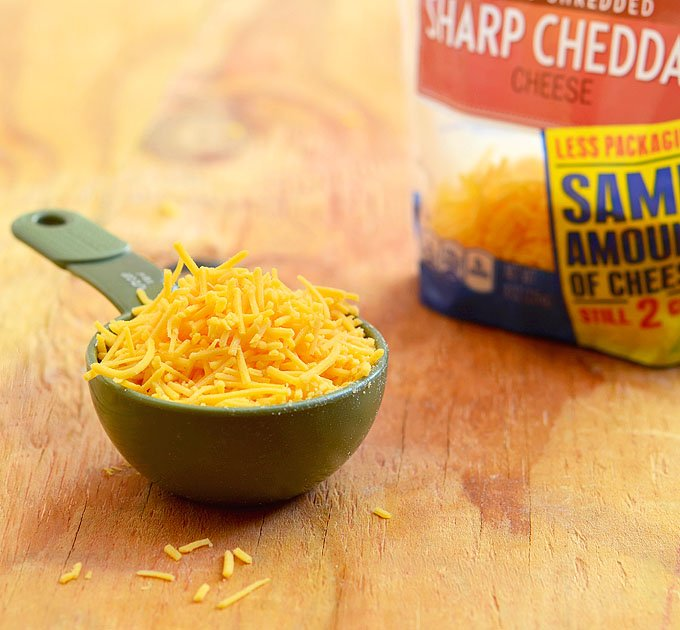 KRAFT Shredded Cheddar Cheese in stand up pouch