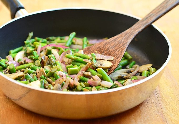 Asparagus Mushroom Saute Onion Rings Amp Things