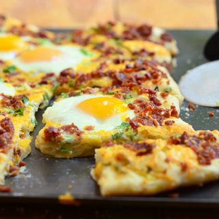 Cheesy Breakfast Pizza
