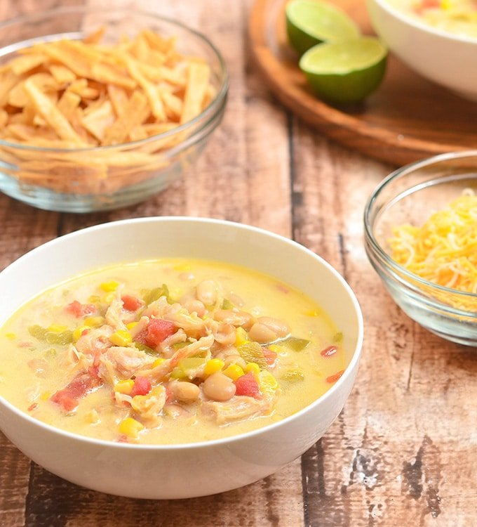 Your whole family will love this convenient fiesta chicken chili.