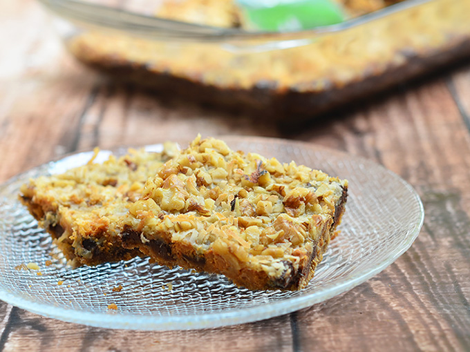 Magic Cookie Bars are sure to please with their unique texture and irresistible taste!