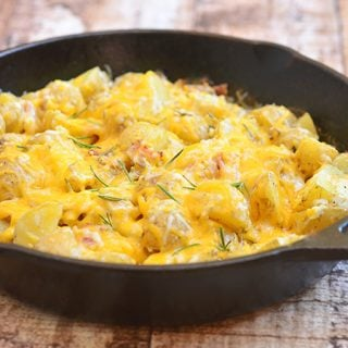 Cheesy Skillet Potatoes