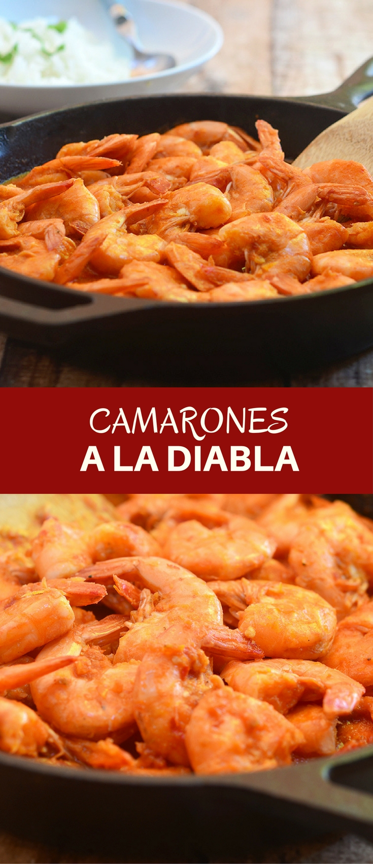 "Camarones a la Diabla cooked a fiery, smoky pepper sauce are sure to rock your taste buds. Also called ""deviled shrimps"", they're loaded with big, bold flavors you'll love."