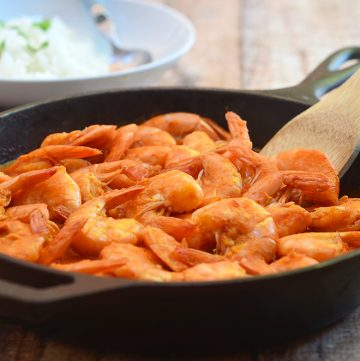 """Camarones a la Diablacooked a fiery, smoky pepper sauce are sure to rock your taste buds. Also called """"deviled shrimps"""", they're loaded with big, bold flavors you'll love."""