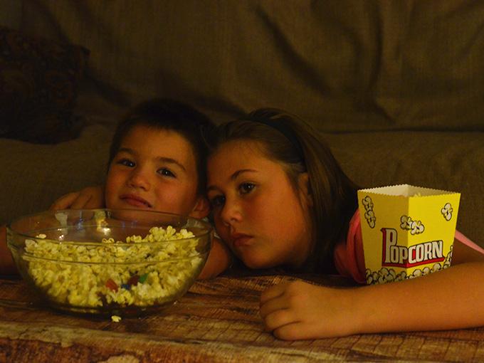 Orville Redenbacher Popcorn Backyard Movie Party