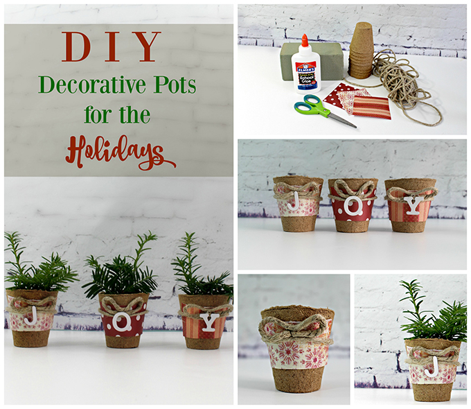 How to Make Decorative Christmas Evergreen Pots