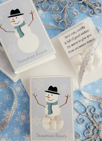 DIY Snowman Kisses (plus FREE Printable)