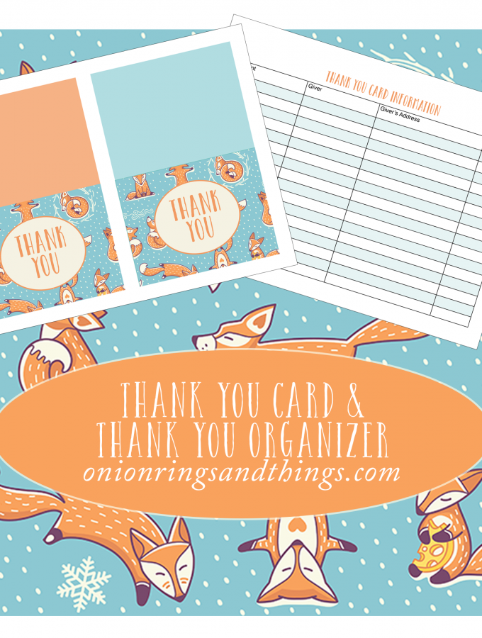 "Christmas ""Thank You"" Cards and Organizer (FREE Printables)"