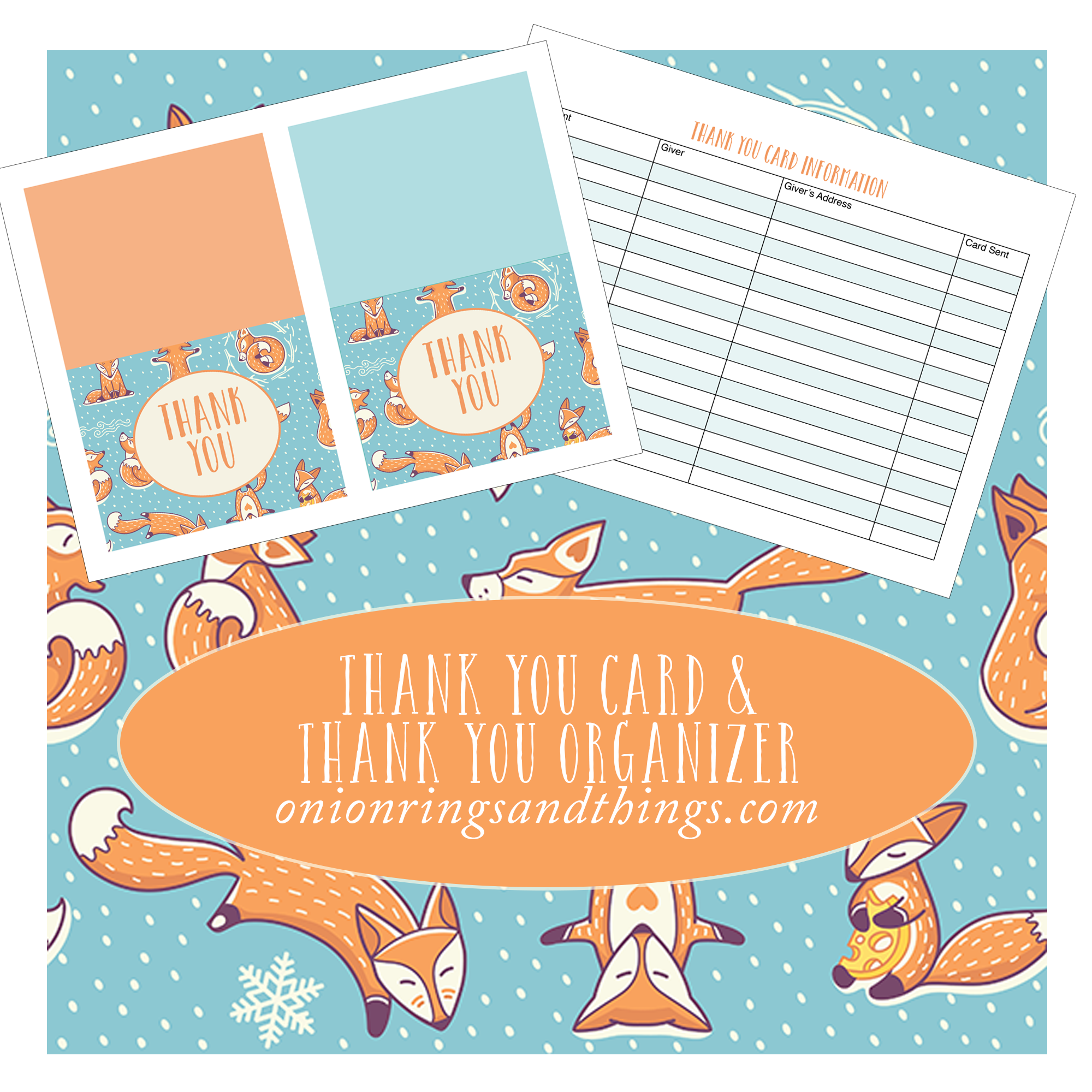 "Christmas ""Thank You"" Cards and Tracker (FREE Printables)"