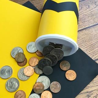 DIY Charlie Brown Coin Bank