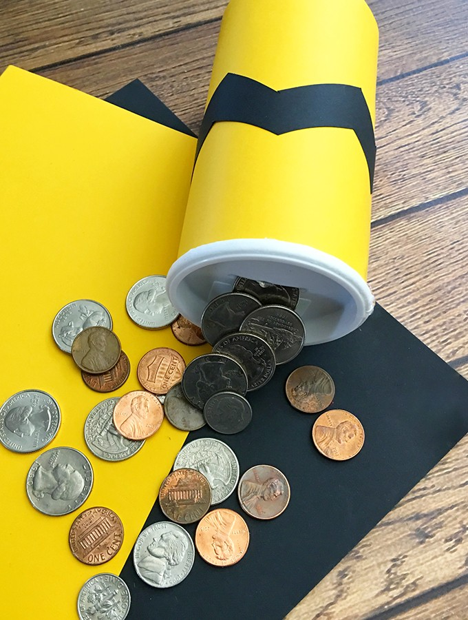 DIY Charlie Brown Coin Bank