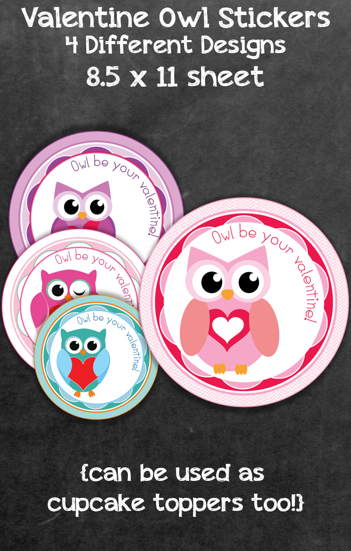 Free Valentine S Day Owl Label And Treat Bag Topper Printables