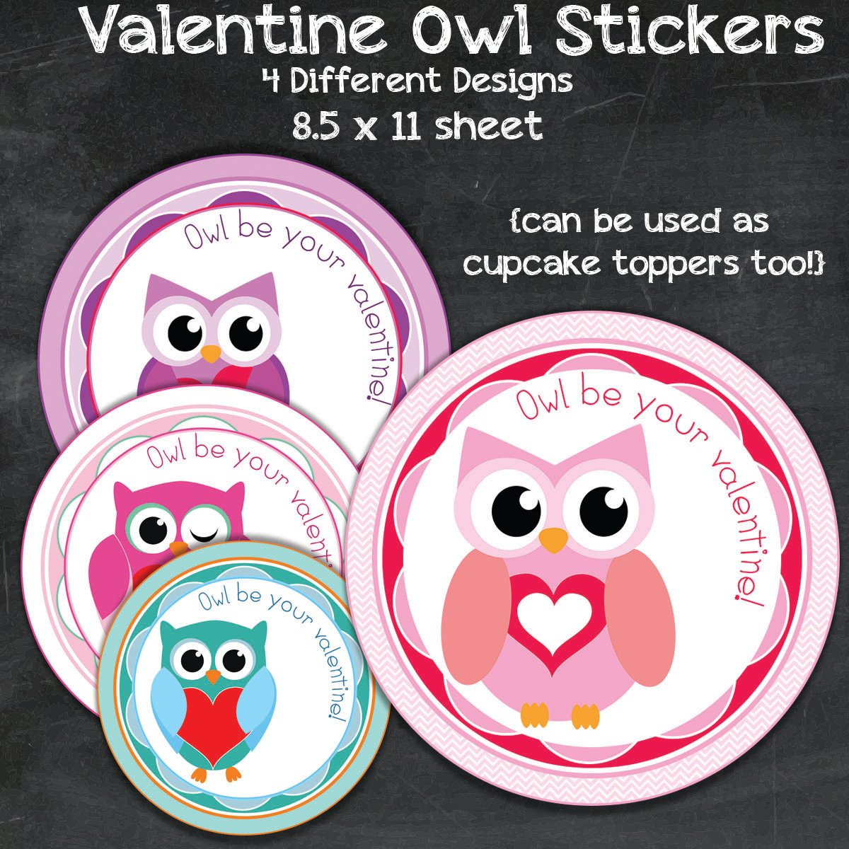 FREE Valentine's Day Owl Labels and Treat Bag Toppers Printables