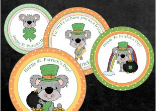 FREE St. Patrick's Day Cupcake Toppers Printable