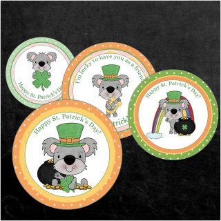 FREE St. Patrick's Day Cupcake Toppers Printable is fun addition to your St. Patrick's celebration! Download, print and use on cupcakes, food and crafts!