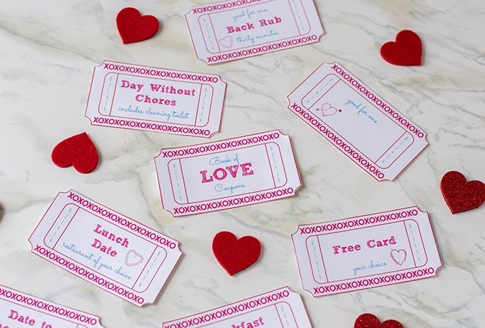photo about Free Printable Love Cards named Valentines Working day Free of charge Printable Appreciate Coupon codes - Onion Rings