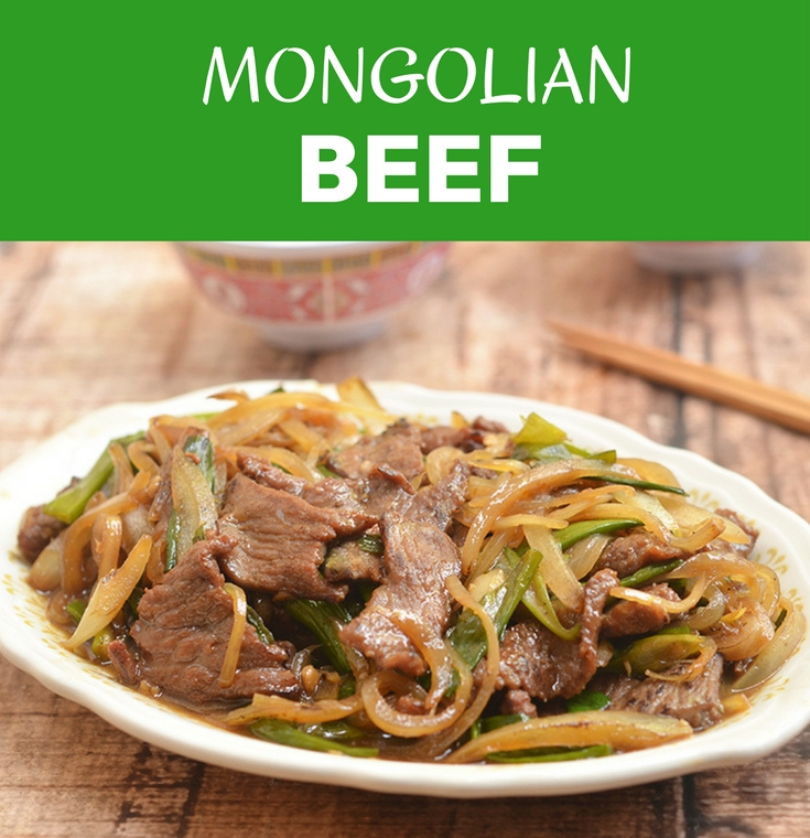 Mongolian Beef is a delectable medley of tender beef and fragrant scallions in a sweet and savory sauce; so easy to make at home yet so much better than take-out!