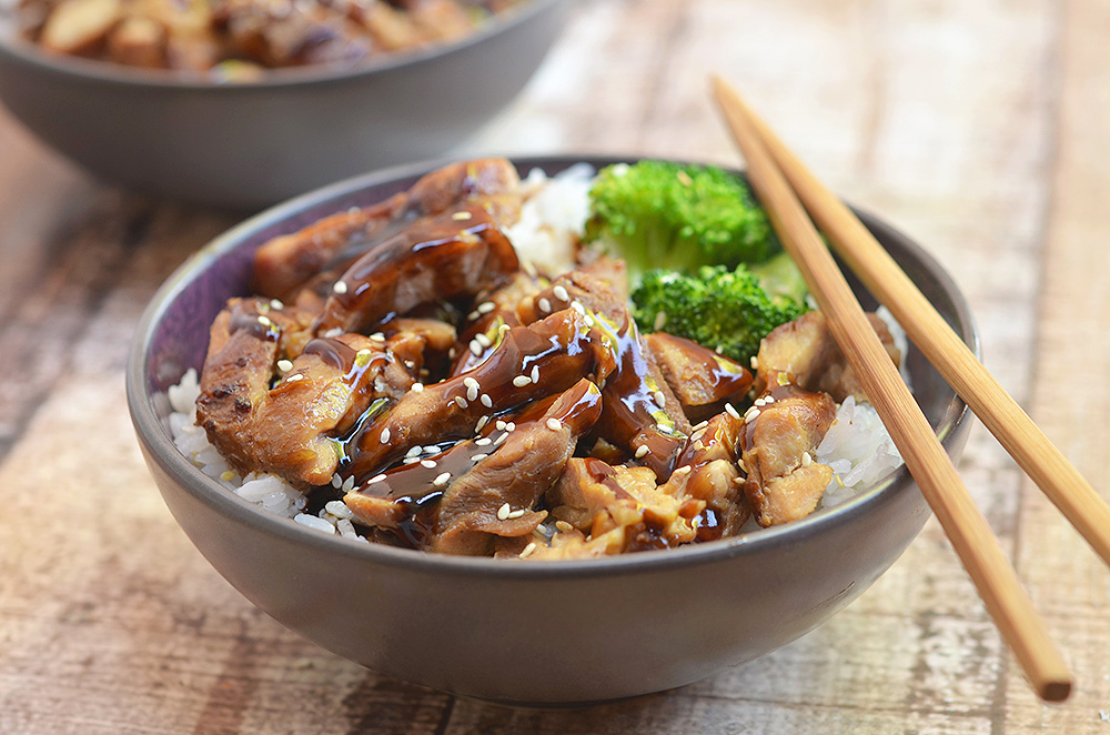 This chicken teriyaki bowl is a healthier version of your favorite takeout dinner.