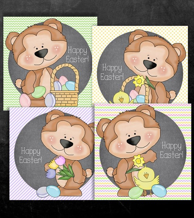 Easter Bear Labels Printable