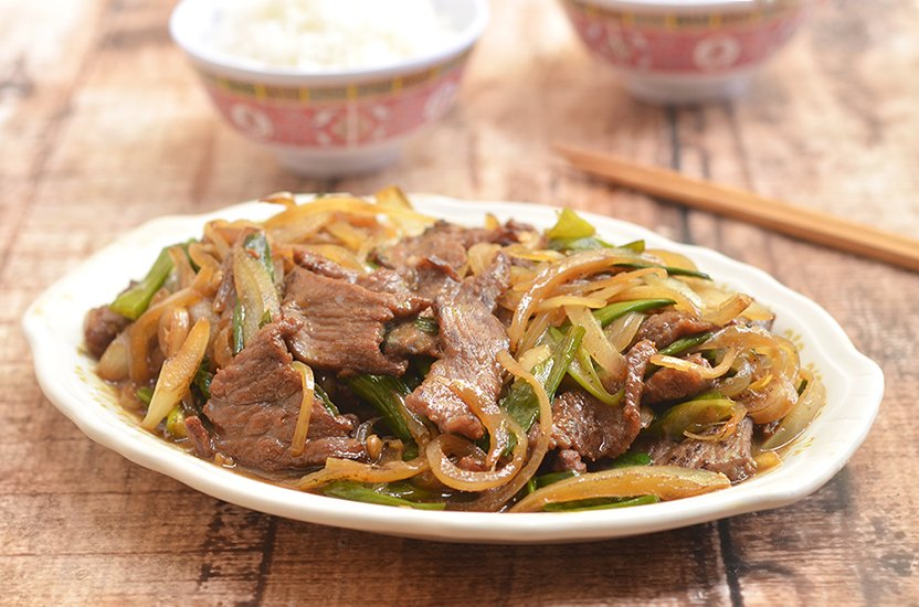 Mongolian Beef is a delectable medley of tender beef and fragrant scallions in a sweet and savory sauce. So easy to make at home yet tastes so much better than take-out!