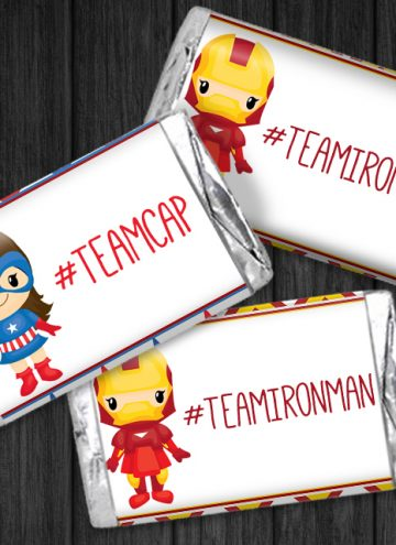 FREE Captain America: Civil War Mini Candy Wrappers Printable