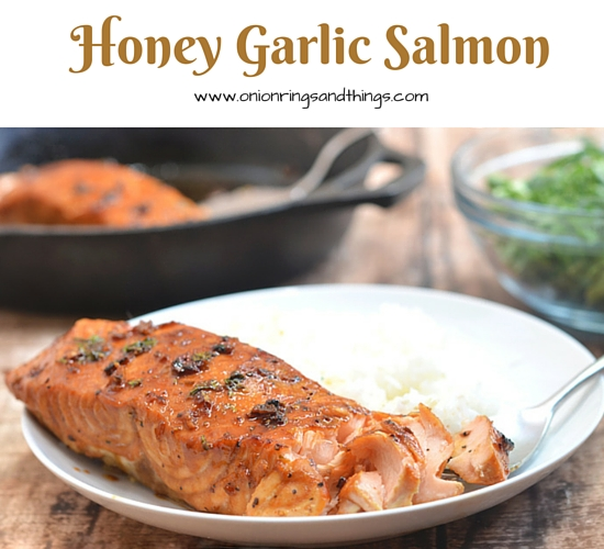 Honey Garlic Salmon dressed in honey, lime, and garlic flavors is a delicious meal your family is sure to love. Quick, easy and ready in 20 minutes or less, it's perfect for busy weeknight dinners.